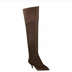 Nine West Womens Dark Brown Over the Knee Boots